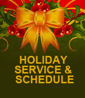 Holiday Service and Schedule