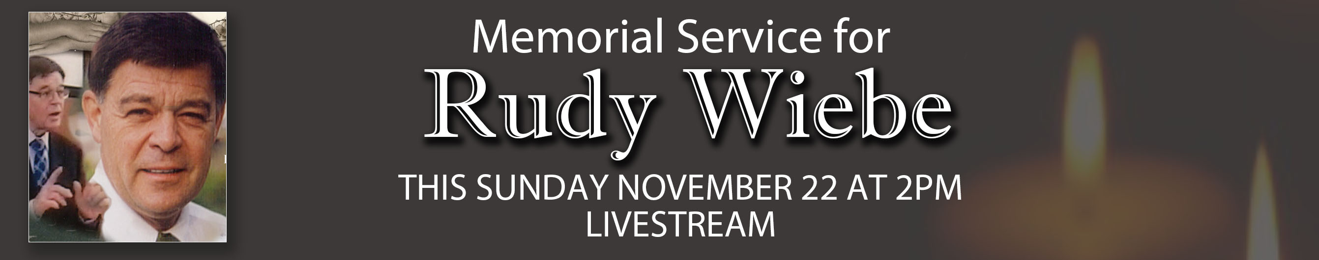 Funeral service for Rudy Wiebe