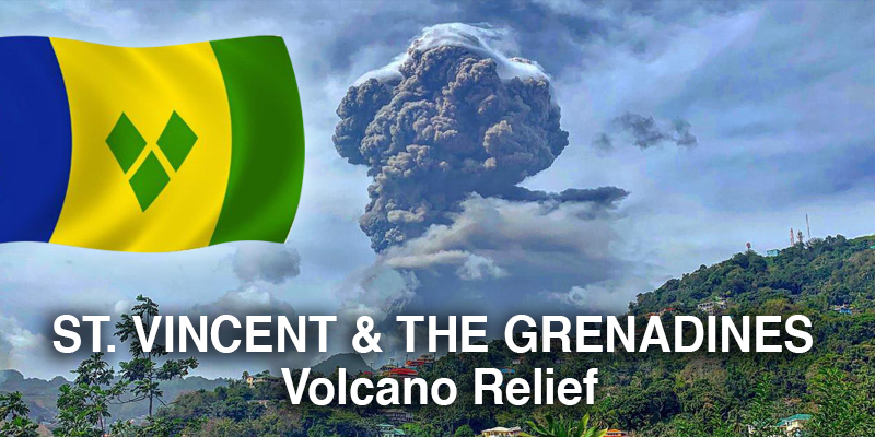 St Vincent & The Grenadines Volcano Relief